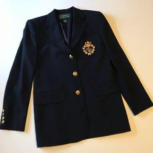 Lauren Ralph Lauren | Classic Gold Crest Blazer |6